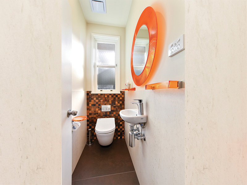 2022 will see pinks, yellows and oranges a popular bathroom colour trends