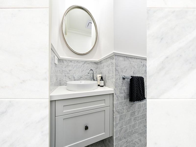 Modern subway bathroom tiles