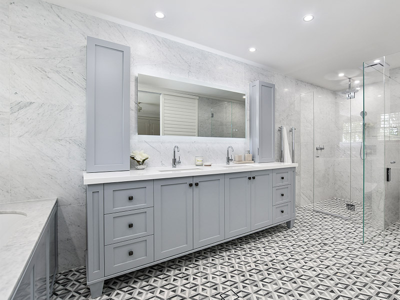 Heated bathroom mirrors provide a stylish source of heat