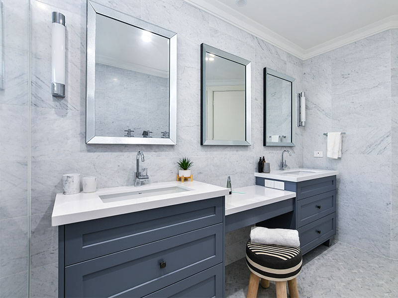 Marble bathroom tiles on trend for 2021