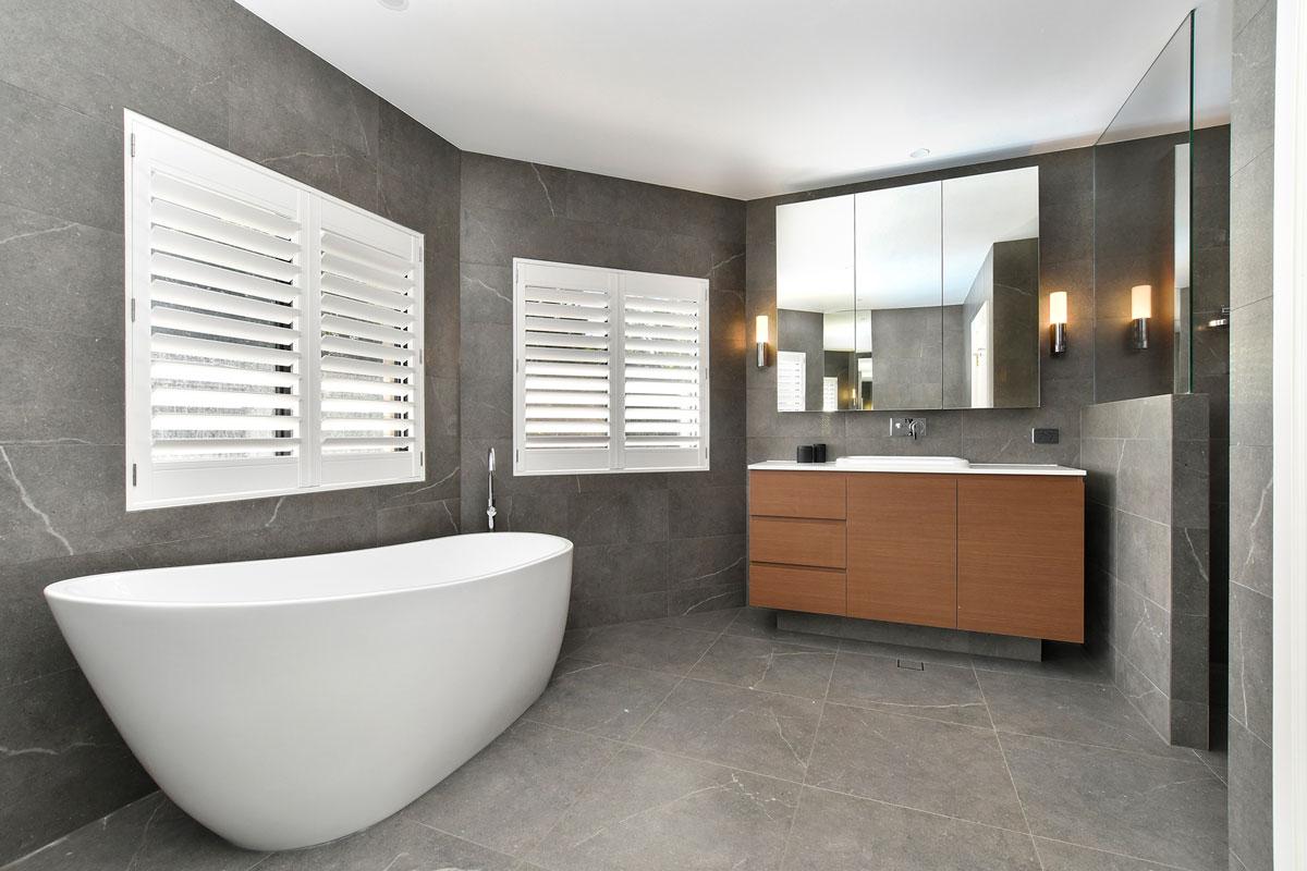Matte bathroom tiles