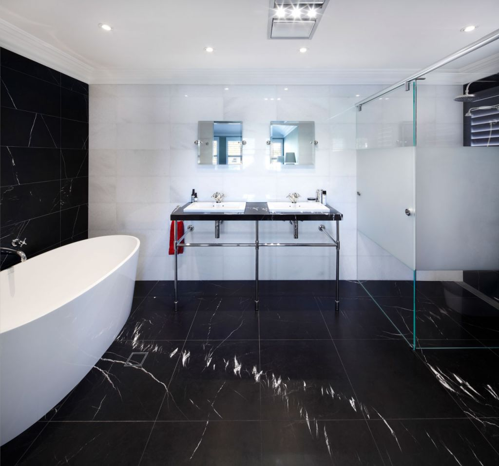 Heat lamps can help to keep you warm in a cold bathroom