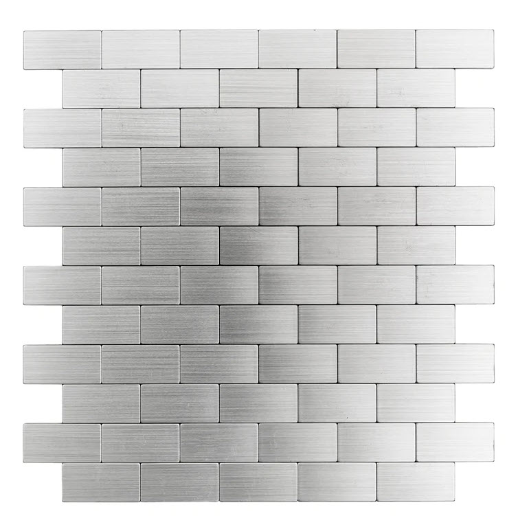 Metal finish bathroom tiles