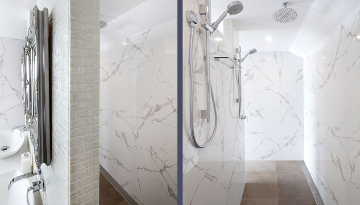 Installing a large shower may be more logical than a bath