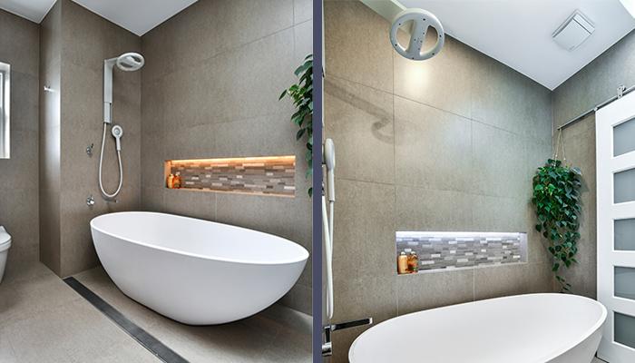 Shower options - bath & shower combo