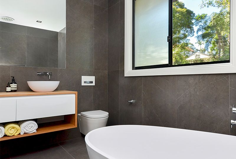 Windows are a great option for bathroom ventilation