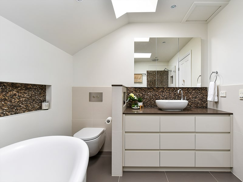 Skylights bring natural sunlight into your bathroom, to brighten & warm the room